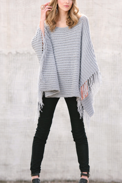 On the Fringe Crochet Poncho