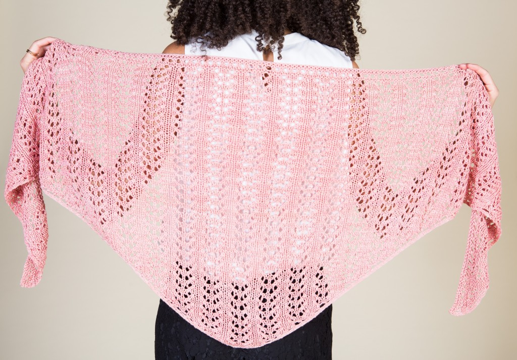 The Sausalito Shawl: An easy lace knitting pattern