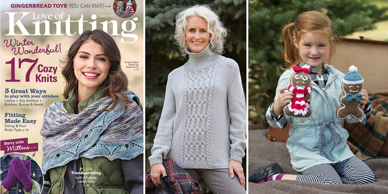 Versatile Knitting Stitches in <em>Love of Knitting</em> Winter 2017