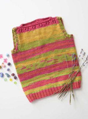 Flower Tank knitting pattern by Adrienne Larsen  from Love of Knitting Spring 2016