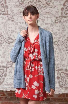 Platinum Jacket knitting pattern by Brigitte Reydams from Love of Knitting Spring 2016
