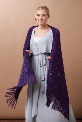 Crystal Chandelier Wrap knitting pattern by Ellen Liguori from Love of Knitting Spring 2016