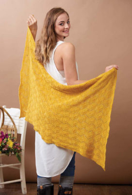 Zigzag Scarf & Stole knitting pattern by Tian Connaughton  from Love of Knitting Spring 2016