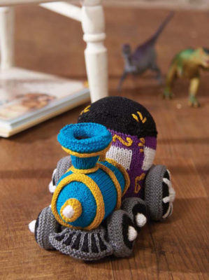 Circus Train Engine knitting pattern by Megan Kreiner from Love of Knitting Spring 2016
