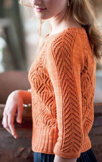 Lace Cardigan knitting pattern is an example of a lace bind off that is looser.