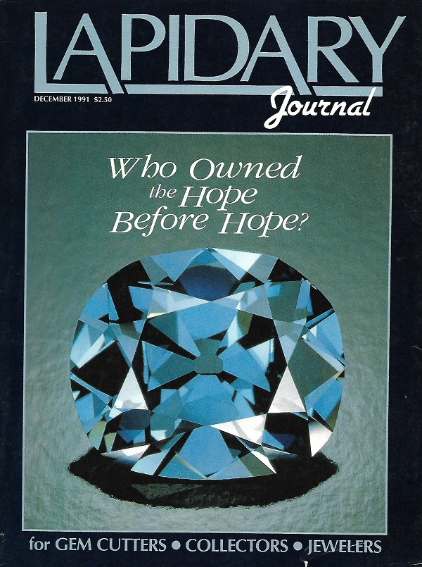 The Hope Diamond on the December 1991 cover of Lapidary Journal
