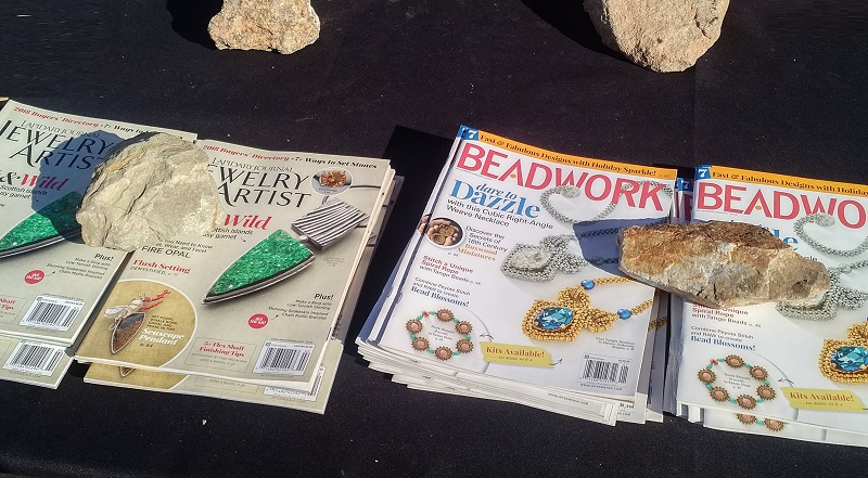 Lapidary Journal Jewelry Artist and Beadwork magazines at the Tucson shows