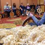 Teaching Leicesters at Yarn Fest 2015.