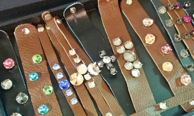Tucson 2017 Wrap Up: New Jewelry-Making Supplies and Hot Jewelry Trends. Las Vegas Rhinestone leather and crystal findings