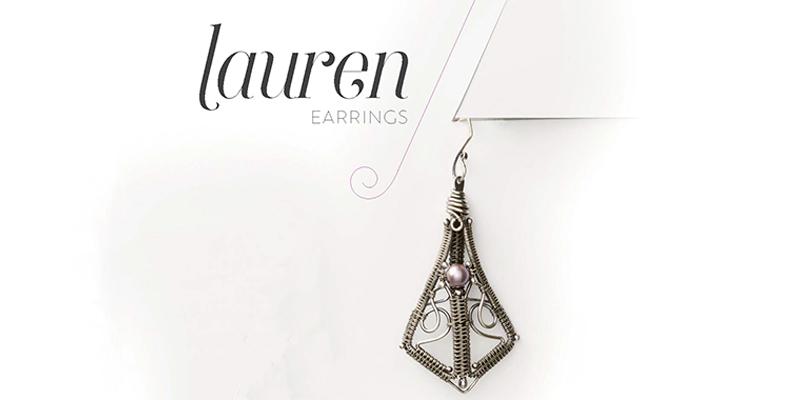 <em>Woven in Wire</em> Jewelry: Lauren Earrings