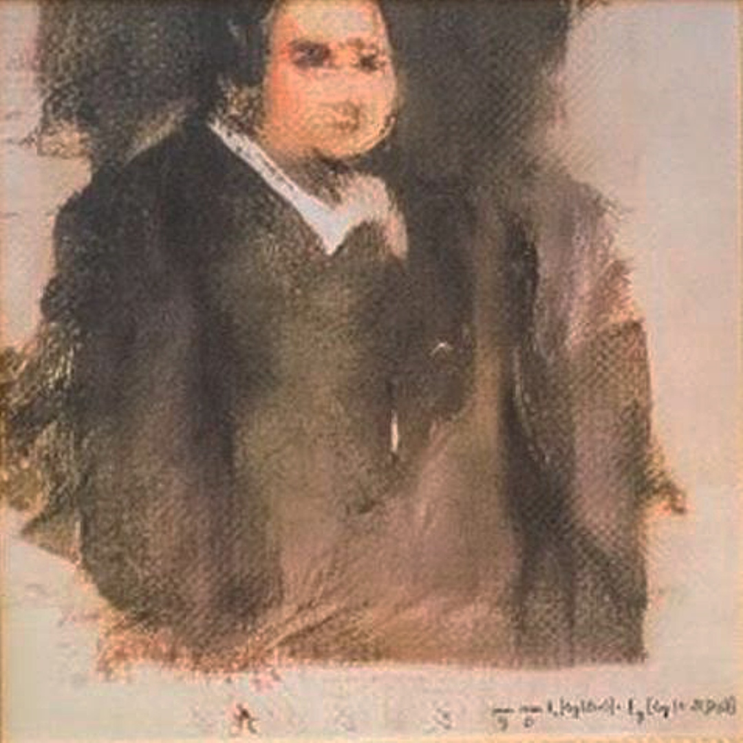 Portrait of Edmond Belamy courtesy of Christie's