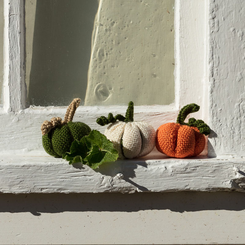 crochet Halloween pumpkins autumn Thanksgiving
