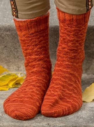The Lida Rose knit socks let you add some great texture to your sock knitting adventure!