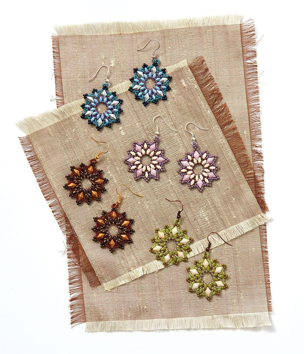 Lilac Burst Earrings by Debora Hodoyer from Quick + Easy 2018