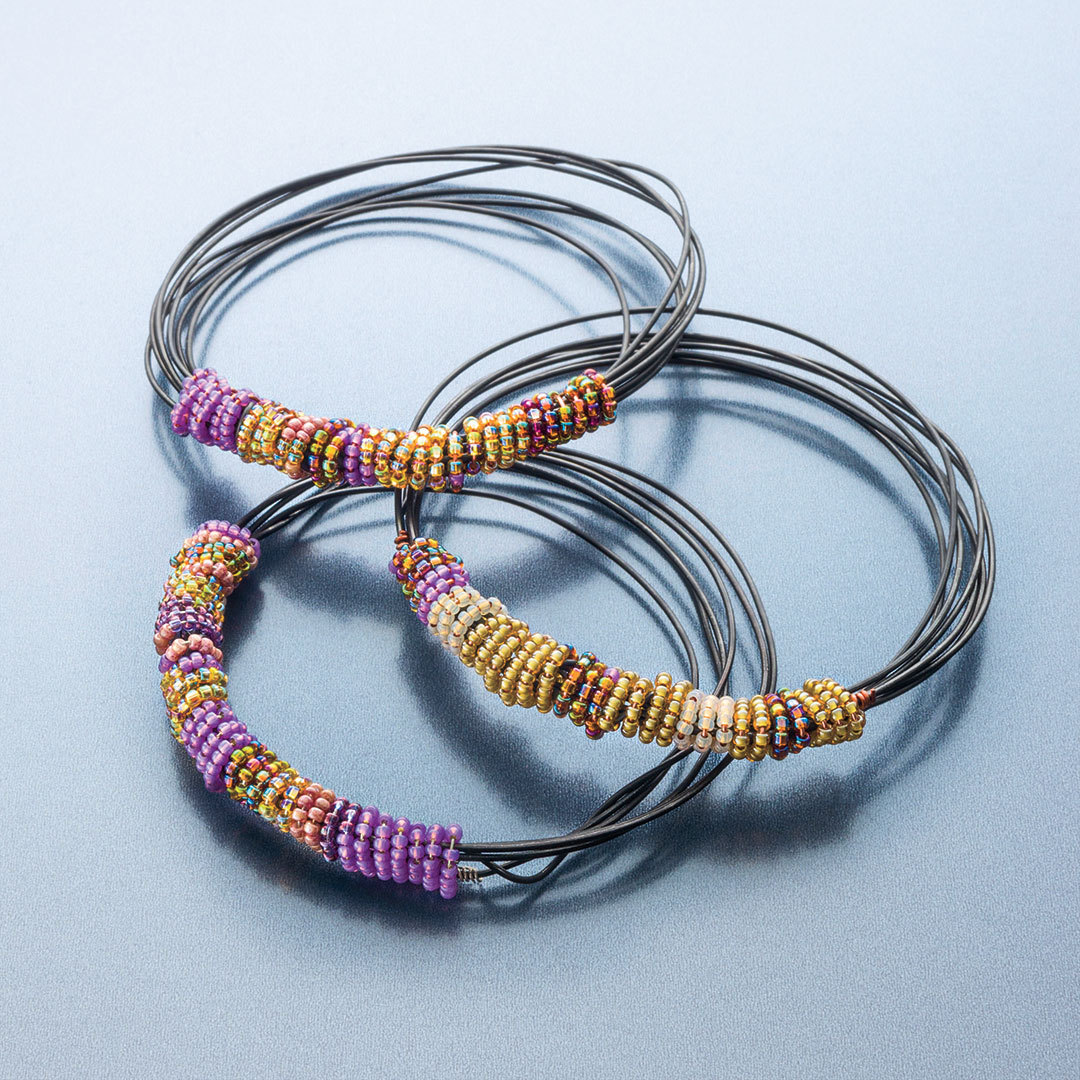 Painted Desert Bangle from Step by Step Wire Jewelry December 2012/ January 2013