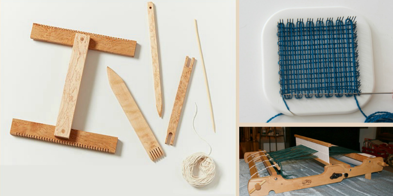 Little looms such as tapestry, pin, or rigid-heddle looms tend to be best for little hands.