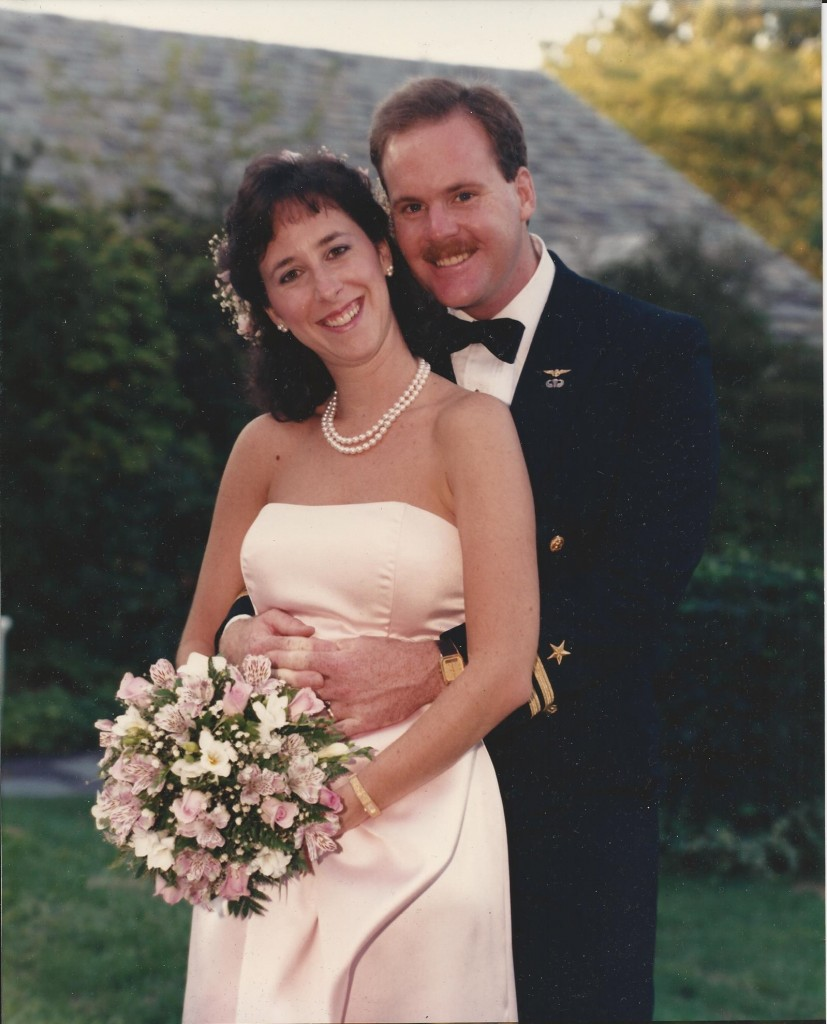 Lori with her late husband Ed on their wedding day. Photo provided by the Children of Fallen Patriots Foundation.