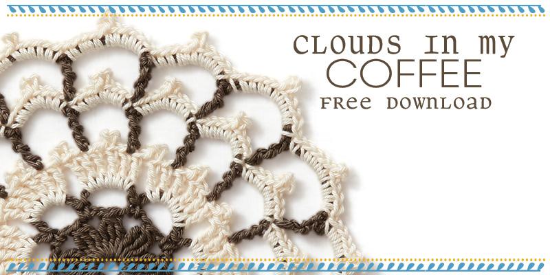 Free Mandala Pattern: Clouds in My Coffee