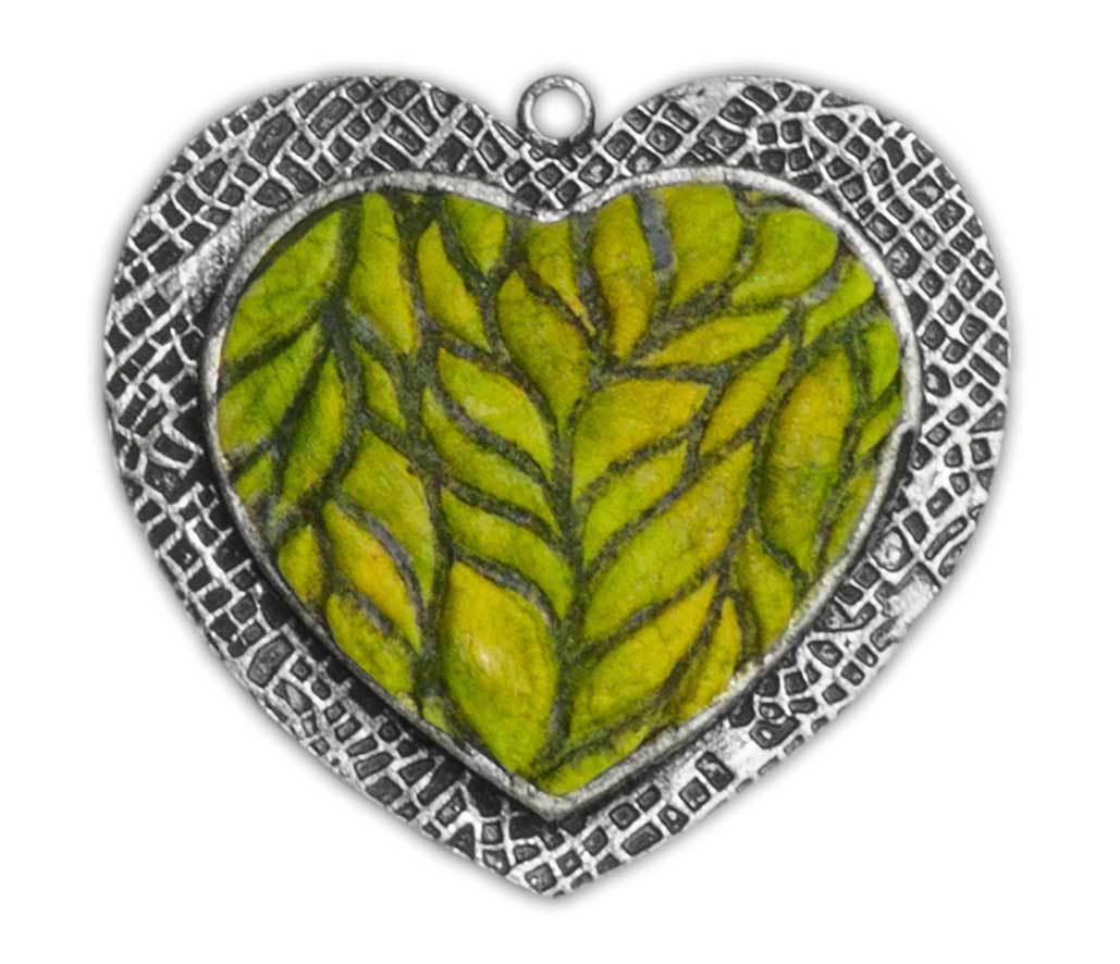 Ice Resin Clay Foliage Pendant