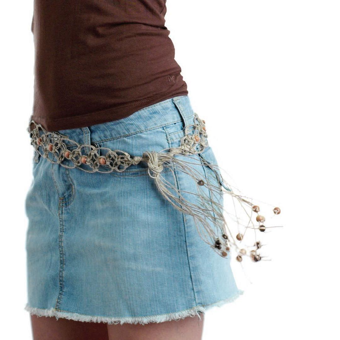 Knotty Hemp Belt by Katie Hacker, macrame belt