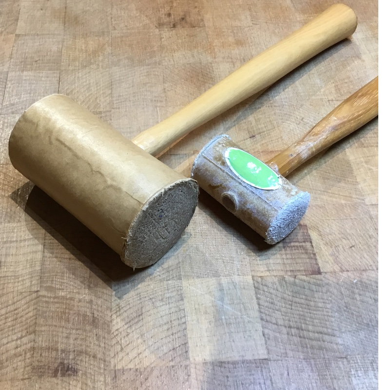 Metalsmithing Tools: Paper and Rawhide Mallets