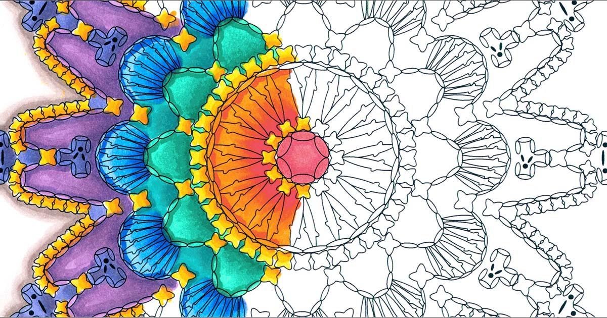 mandala coloring books crochet