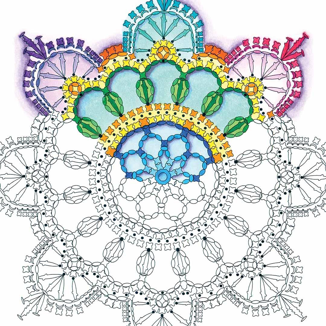 manadala coloring books crochet