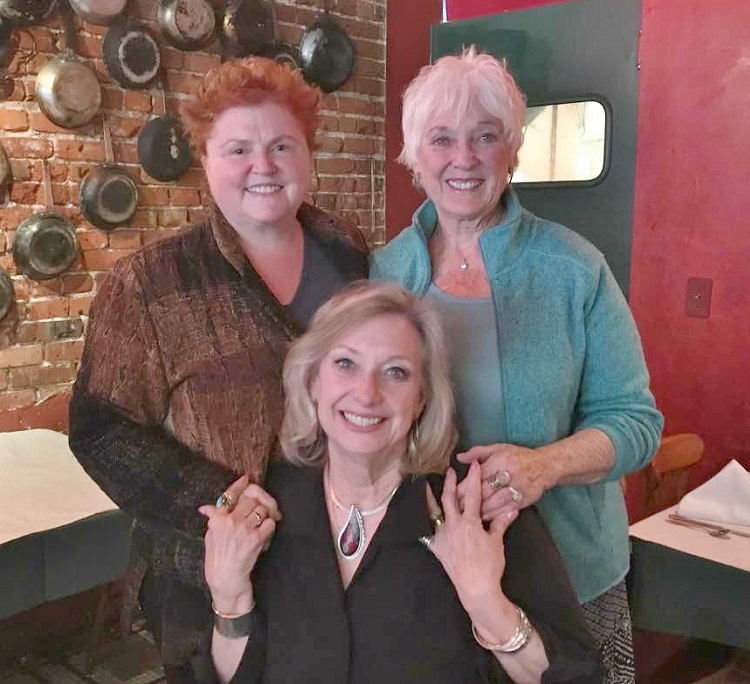 metalsmithing friends and teachers Marne Ryan, Carolyn Fineran, and Lexi Erickson