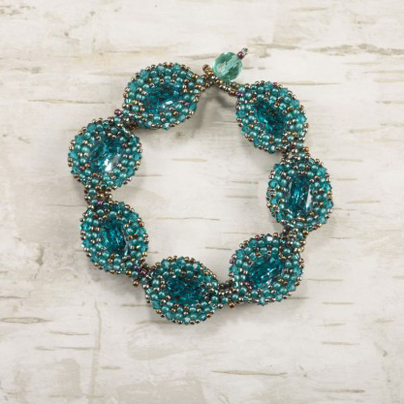18 Luxurious Beaded Jewelry Designs with a Vintage Flair. Marquise Bracelet