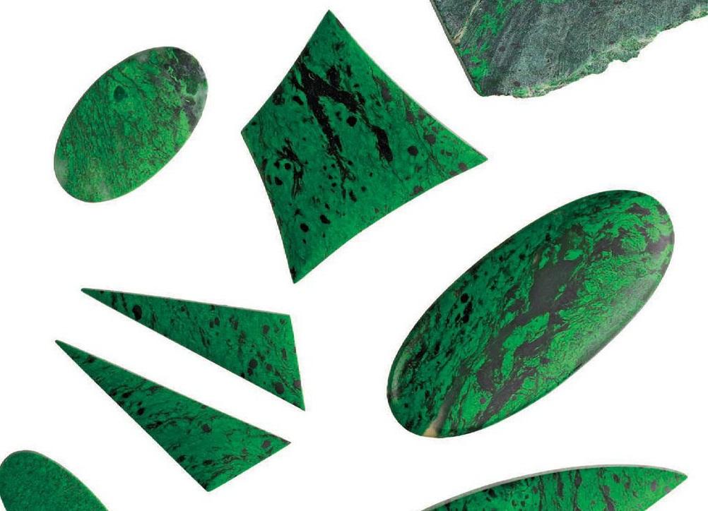 Maw-sit-sit gemstones Courtesy: Barlows Gems PHOTO: JIM LAWSON