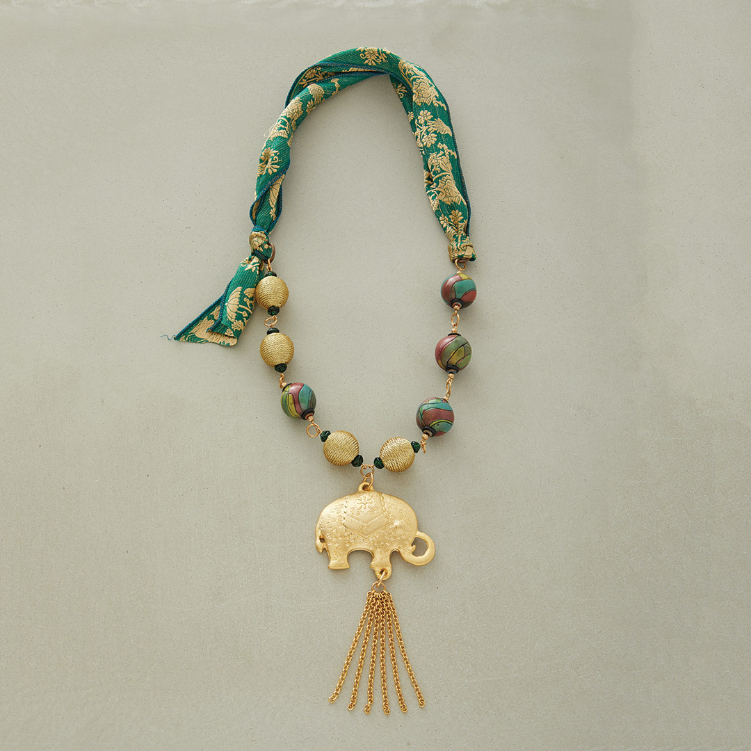 Michelle McEnroe's Elephant Walk Necklace brass jewelry necklace