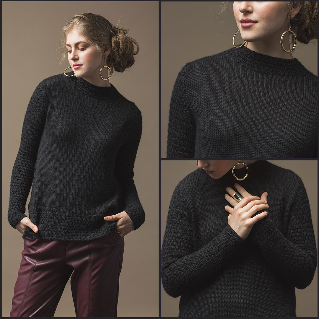 The Medici Pullover by Shellie Anderson from Wool Studio Vol. V | Photos by Harper Point Photography.
