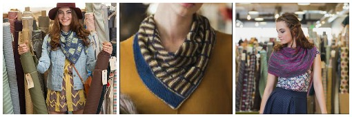Three more shawls wrap up Megi's Knitscene Accessories collection: The Harper Shawl, The Sarcasm Shawl, and the Cait Shawl.