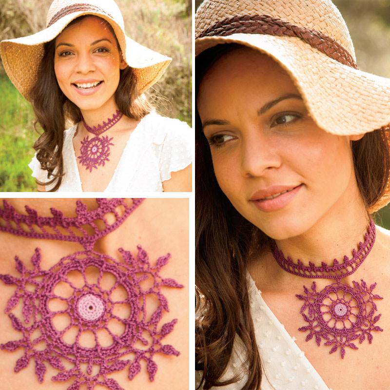 Mandalas: Mehndi Crocheted Necklace
