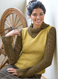 The Melange Turtleneck is a great knit/crochet pattern found in our free Knitting and Crochet Patterns eBook.