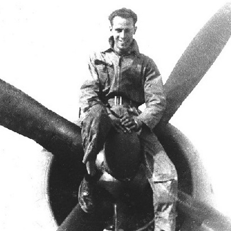 jewelry tools designer Miland Suess was a rear gunner during World War II. Photo courtesy of Dana Suess