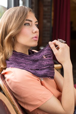 The Molecule cowl is a crochet cowl that is fashionable and great for year-round wear.