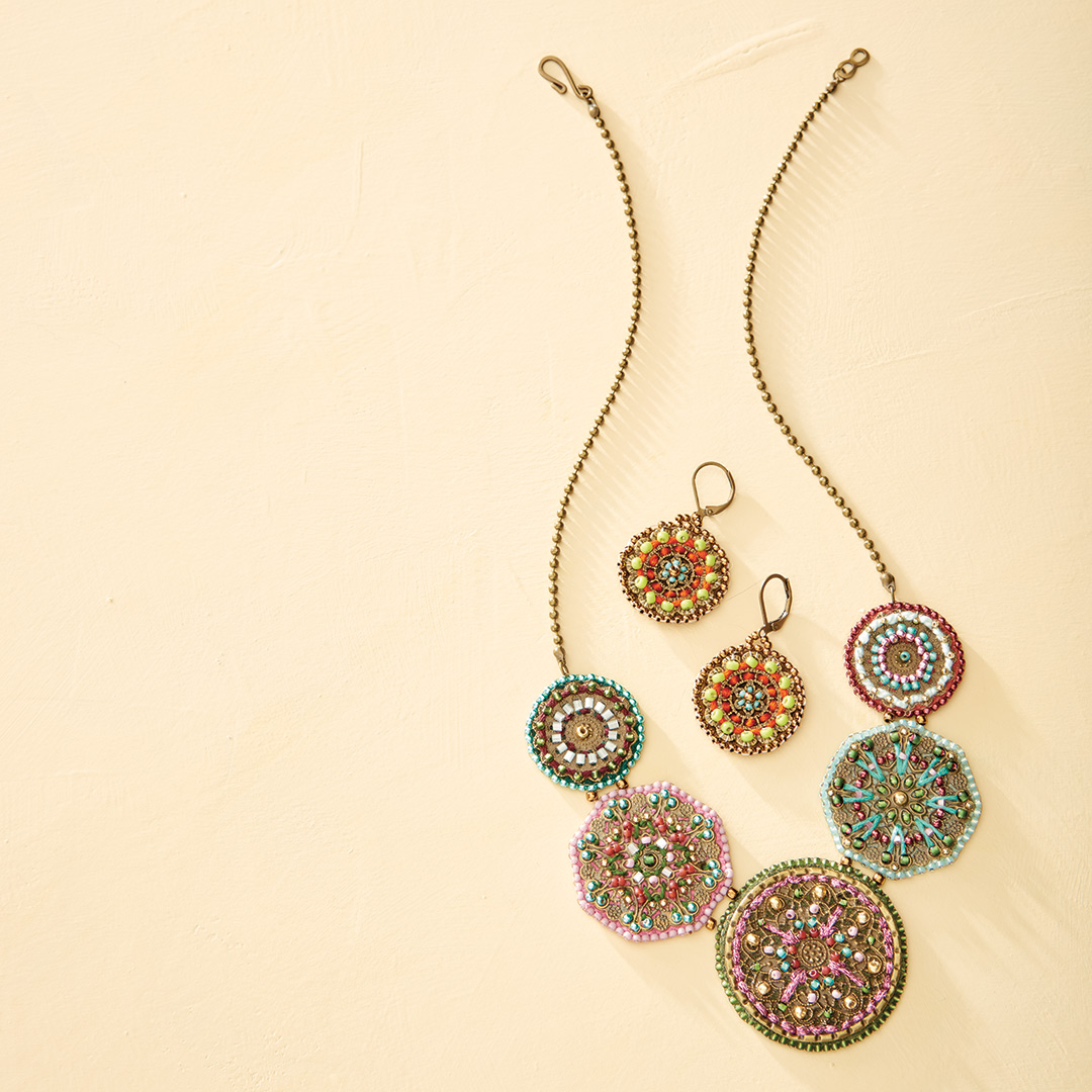 Modern Mandalas Necklace by Beth A. Moser - beaded mandala jewelry