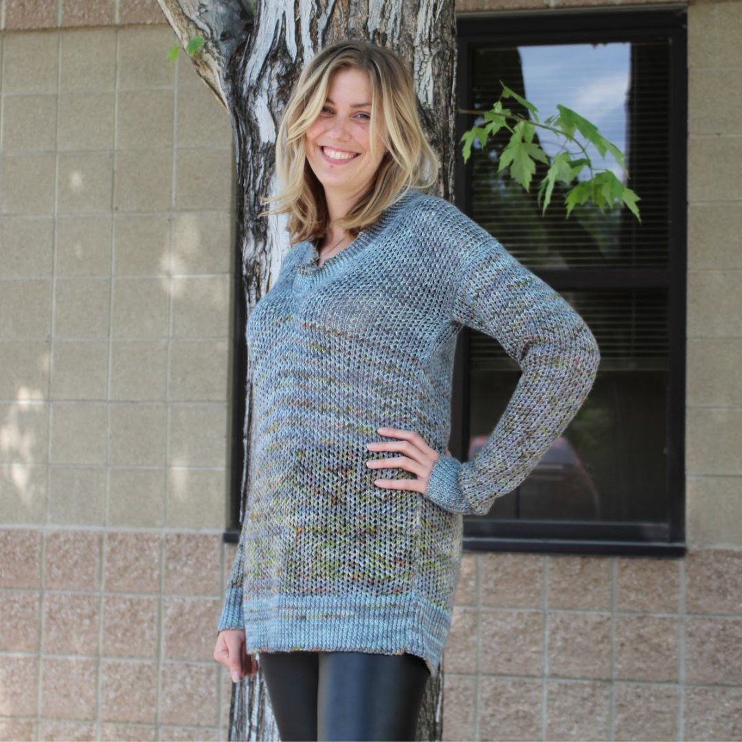 The Murray Pullover was an awesome choice for a first sweater knitting pattern!