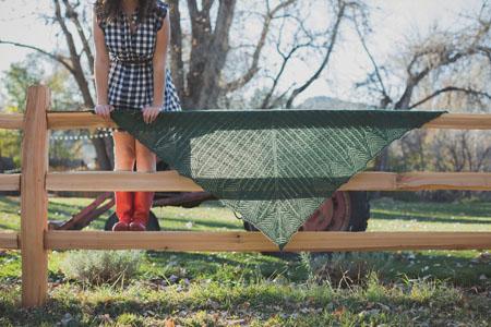 Nash Island shawl knitting pattern