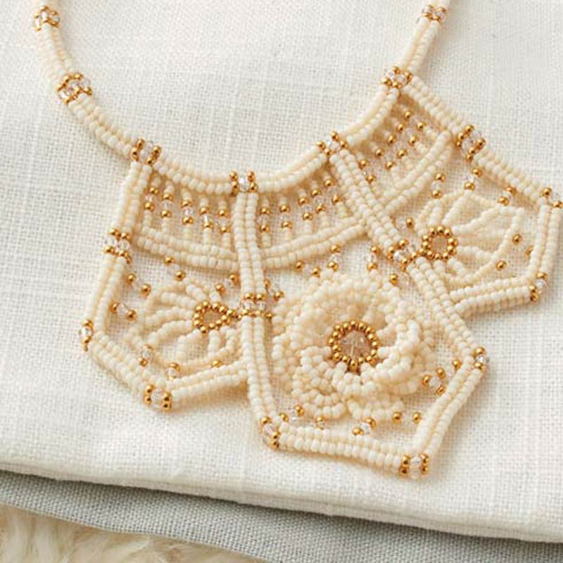 Cynthia Newcomer Daniel beadweaving artist and author or Modern Beaded Lace