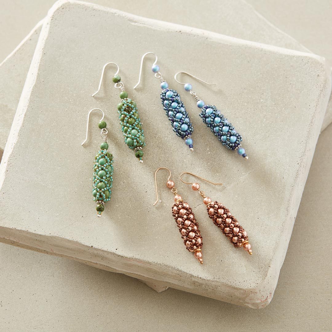 Netted Pearl Earrings