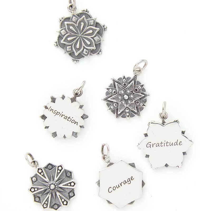 Nina Designs' Mandala Affirmation Charms beading supplies