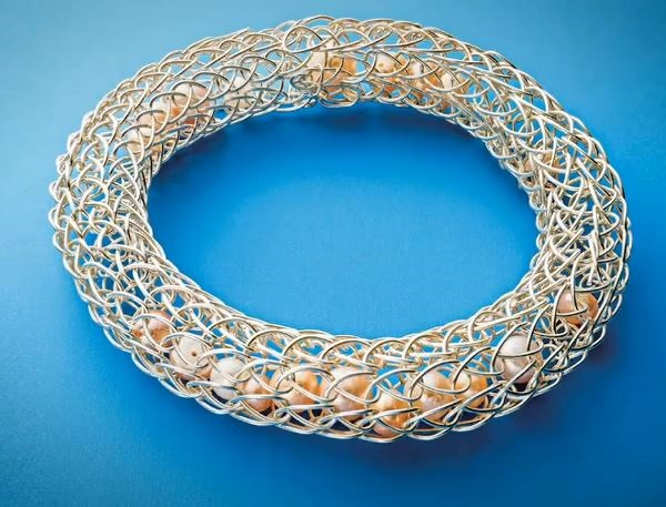 Viking knit filled chain bracelets