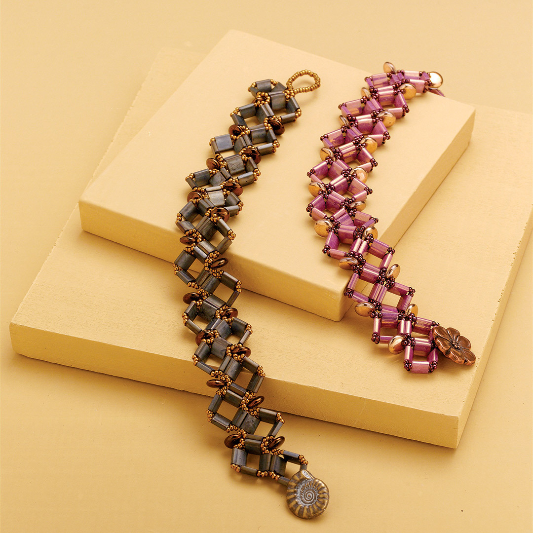shaped beads: Christine Nordlund's Tectonic Tilas Bracelet