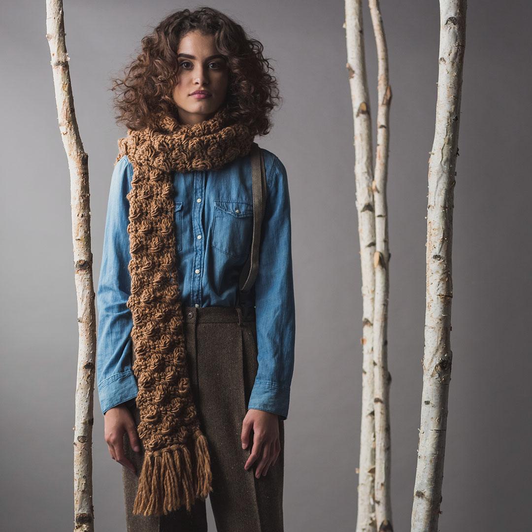 Nutmeg Scarf from <em>Interweave Crochet</em> Winter 2019 CREDIT: Harper Point Photography