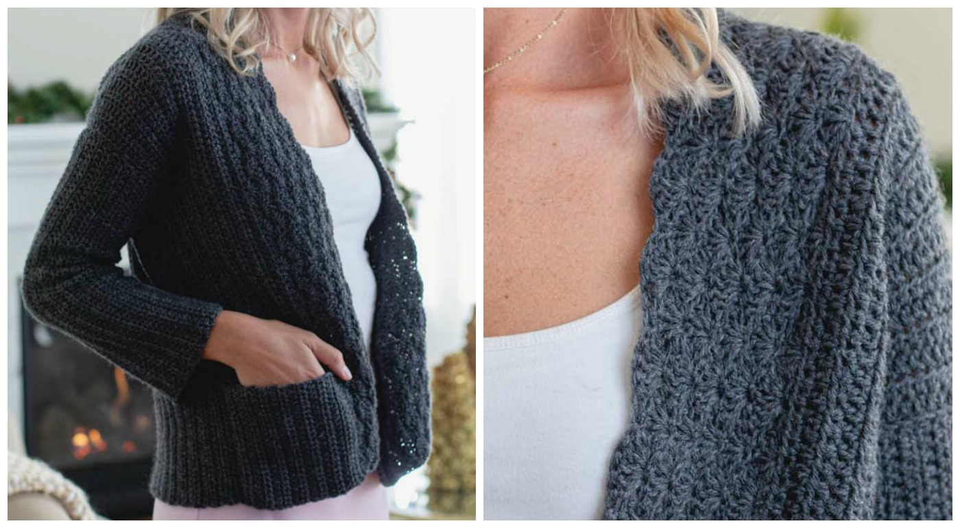 The Ogive Cardigan from Interweave Crochet Winter 2020.