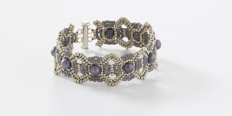 Discover Zentangle Inspiration with Beadweaver Carol Ohl. Check out her Saturn Connections seed bead bracelet.