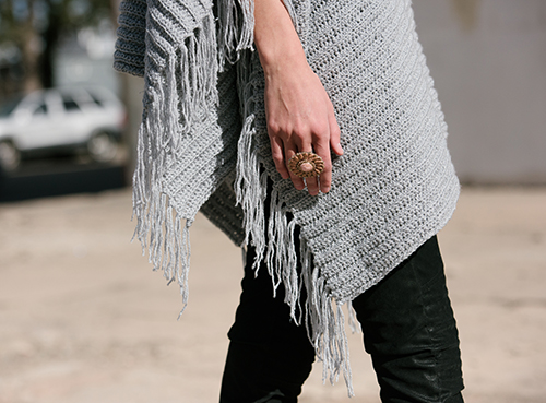Fringe Edge of the On the Fringe Crochet Poncho