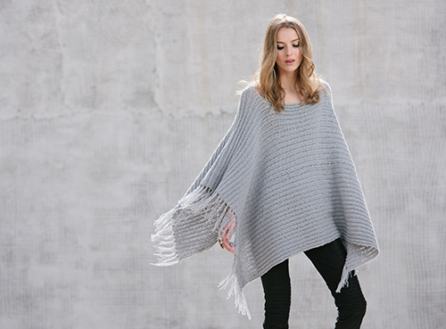 Front of On the Fringe Crochet Poncho